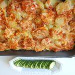 Aubergine-aardappelschotel