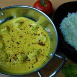 Punjabi curry met vegan balletjes