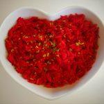 Rode groenterijst