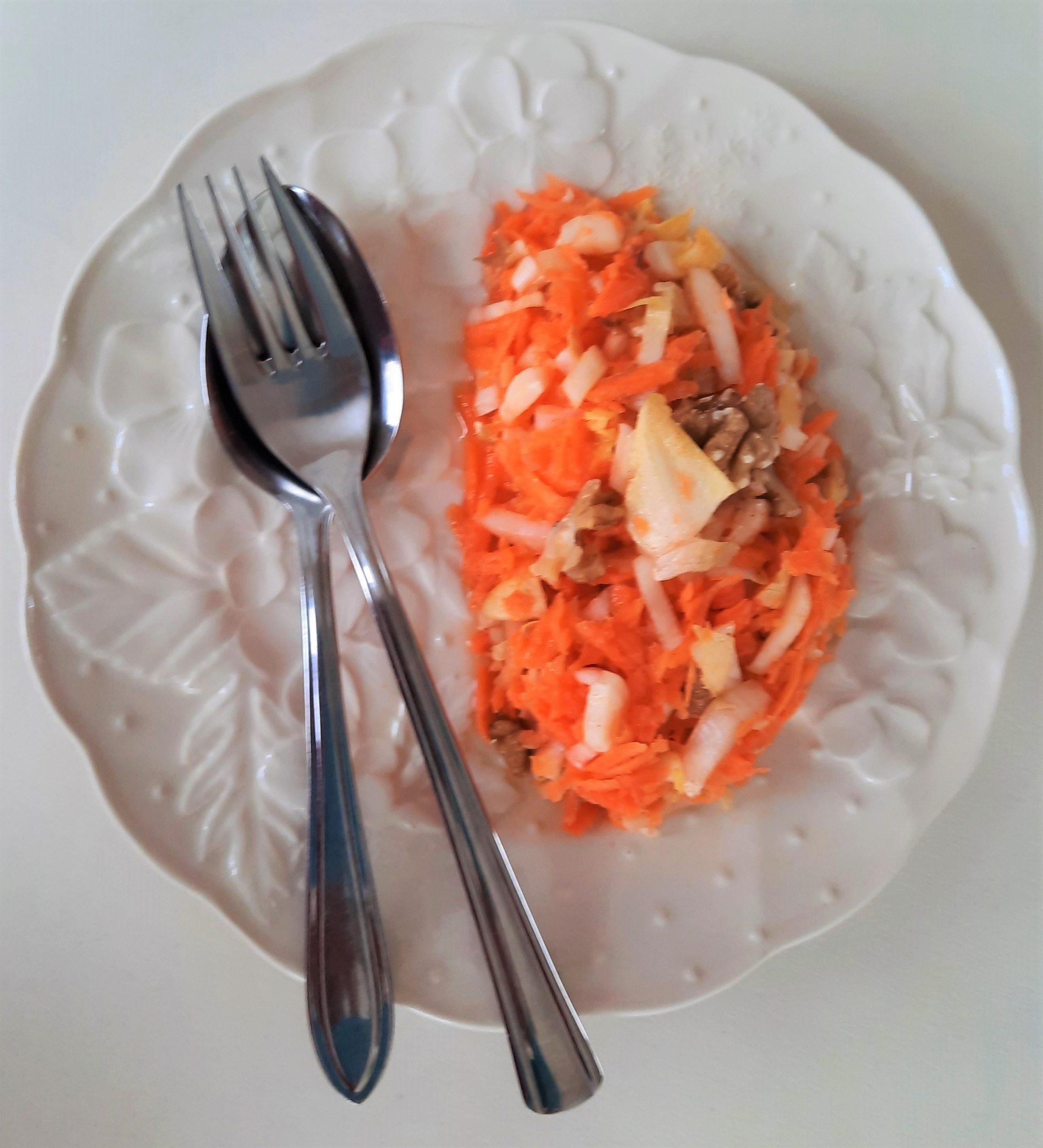 Witlof- wortelsalade