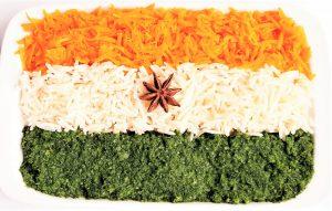 Indiase vlag schotel