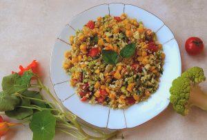 Salade van groene bloemkool