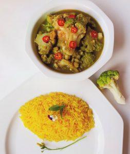 Groene curry Thai stijl